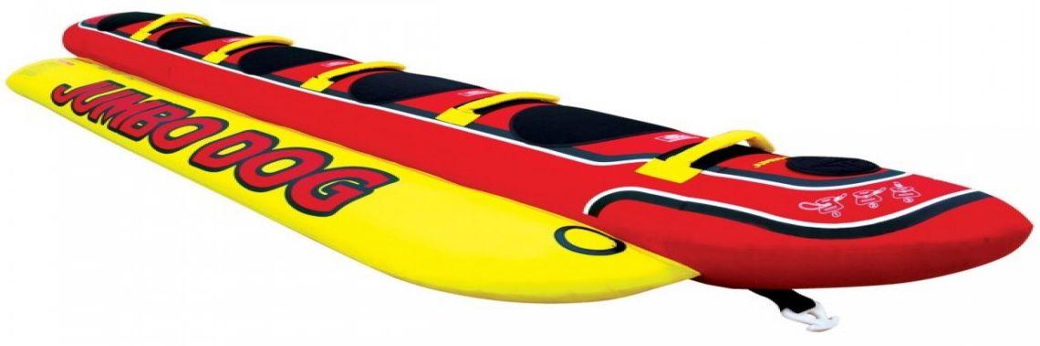 Водный надувной банан пятиместный